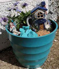 Mrs Can's blue garden