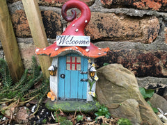 Fairy door at the bottom of the garden