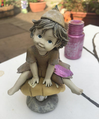 Painting fairy ornament