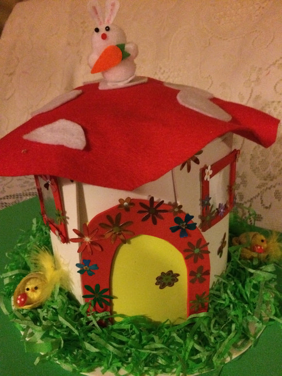 Fairy house easter bonnet