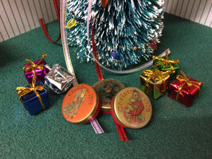 Christmas tins and presents