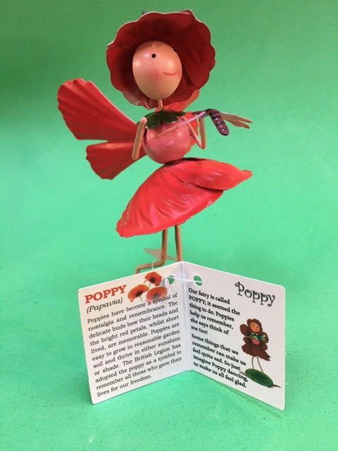 Poppy flower fairy