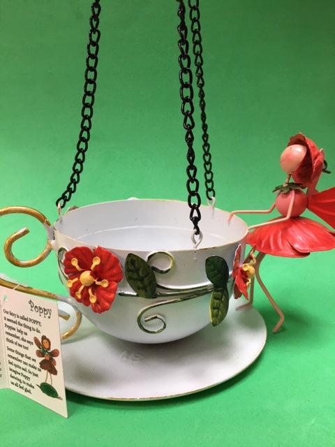 Poppy fairy teacup