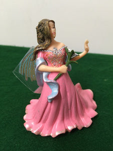 PVC fairy figure pink dress