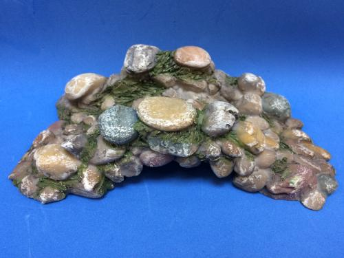 Pebbled bridge miniature scenic