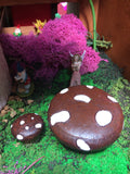 Toadstool table and chair