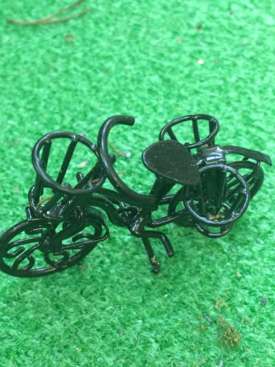 Miniature bicycle scenic
