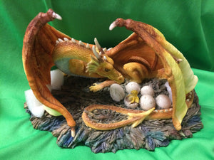 Dragon ornament with hatching eggs
