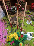 Miniature gardening set