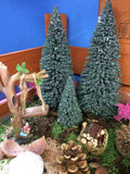 Set of three trees fairy garden