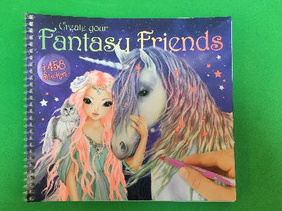 Fantasy friends sticker book front