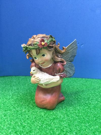 Fairy and dove ornament