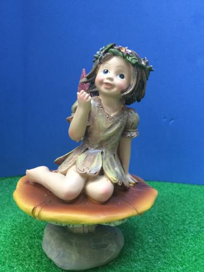Fairy on a toadstool ornament