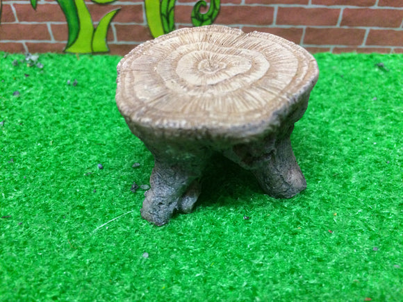 Tree stump table miniature scenic