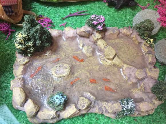 Miniature pond scenic