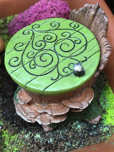 Fairy hatch green door
