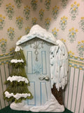 Ice Blue Snow Fairy Door