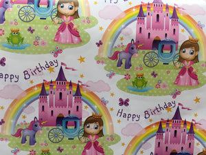 Princess Birthday Paper