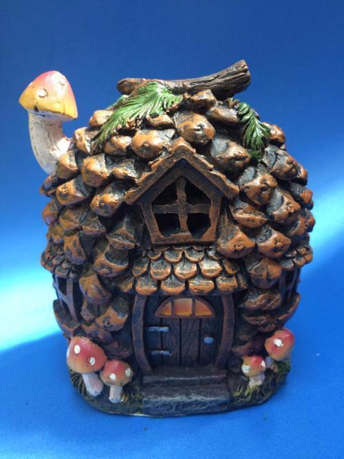 Pine corn fairy house