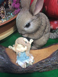brown ceramic bunny