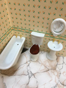 Miniature bathroom four piece set