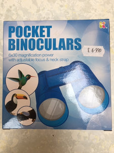 Pocket binoculars blue