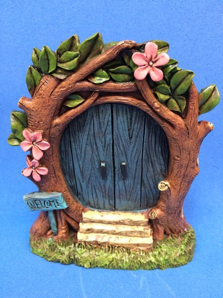 Forest blue fairy door