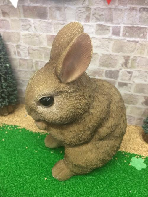 brown ceramic rabbit, 16cm