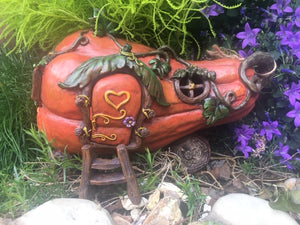 Butternut fairy house