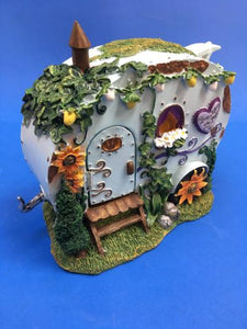 Fairy caravan with closed door