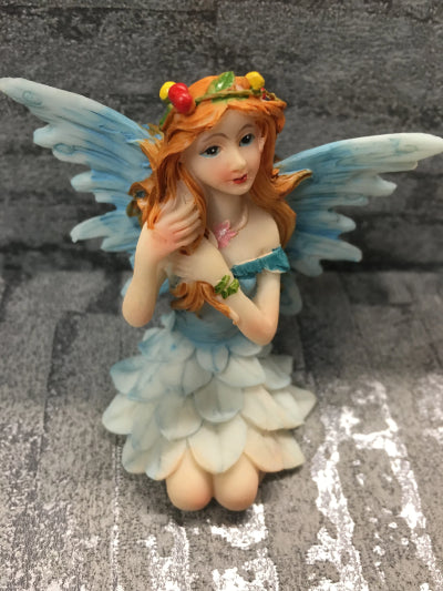 Blue fairy ceramic figure