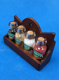 Salt and pepper rack miniature