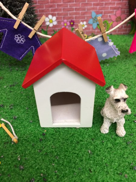 Fairy garden kennel and dog