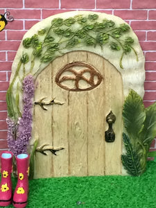 Washed oak fairy door