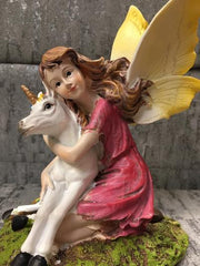 fairy with unicorn