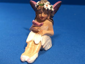 Ceramic fairy in white