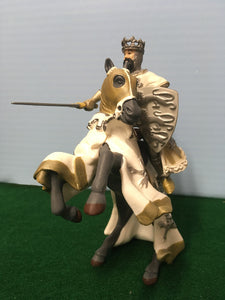 Medieval English king on horse