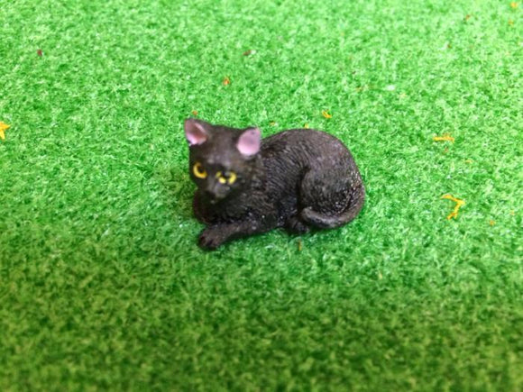 black cat - ceramic mini