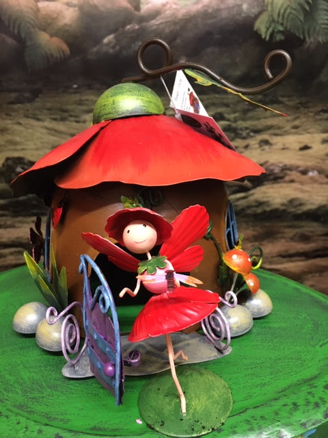 Poppy fairy house with poppy fairy