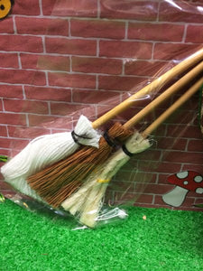 Three tiny brooms for fairy housekeeping