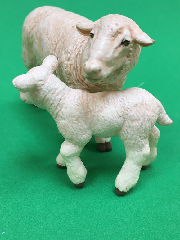 Sheep with lamb in front