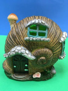 sea shell fairy house