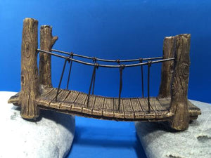 Fairy garden rope bridge