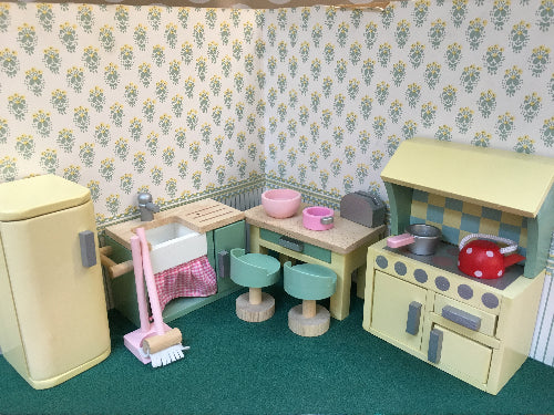 Dolls house wooden kitchen
