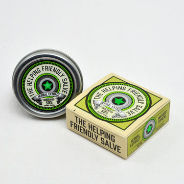 The Helping Friendly Salve – Unscented - 50mg Travel Size - Herbal Extract Topical