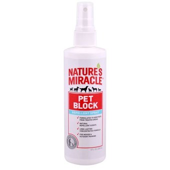 Repelente Pet Block Nature´s Miracle - 473 Ml, Limpieza y Entrenamiento, Nature´s MIracle, Mister Mascotas