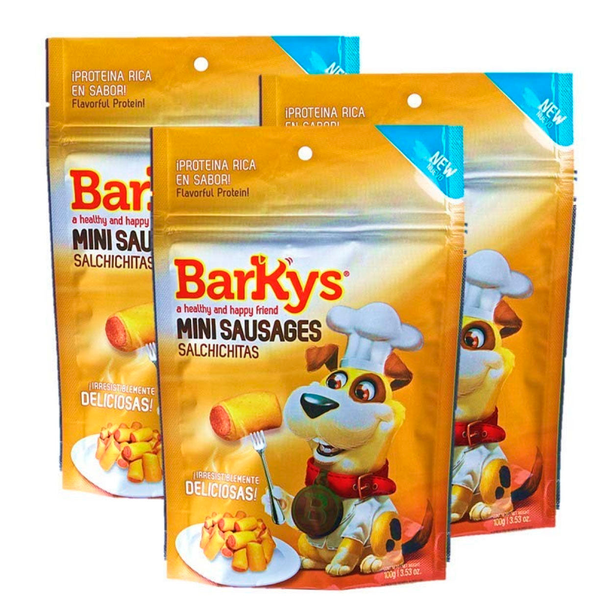Barkys Mini Salchichitas/mini Sausages 3 Pack De 100g