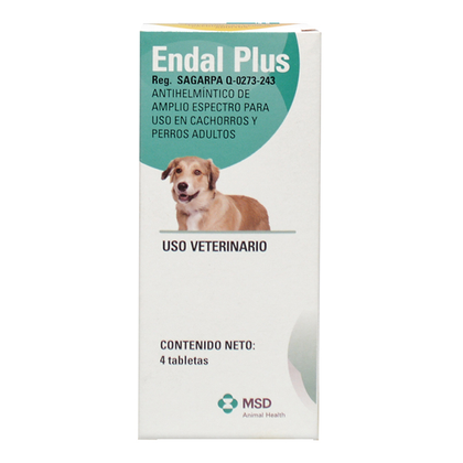 Endal Plus 4 Tabletas – MSD Salud Animal
