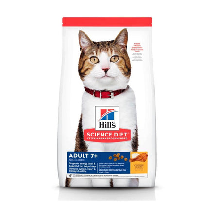Hills science diet alimento gato feline 7+ adulto original