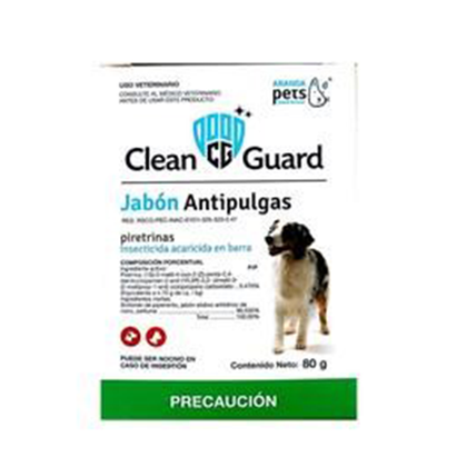 Jabon Antipulgas Clean Guard 80 Gr - Aranda